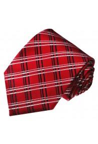 Krawatte für Herren rot kariert LORENZO CANA