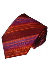 Men's Necktie Pure Silk Striped Purple LORENZO CANA