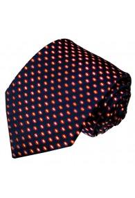 Men's Necktie Pure Silk Polka Dot Navy LORENZO CANA