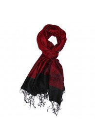 Shawl Silk Wool Paisley Red Black For Men LORENZO CANA