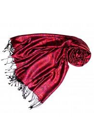Pashmina 100% Seide Paisley violett rot rosenrot LORENZO CANA