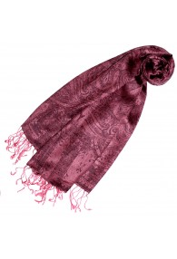Pashmina Paisley bordeaux rot pink LORENZO CANA
