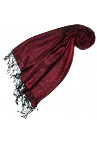 Pashmina 100% Modal Paisley Red For Women LORENZO CANA
