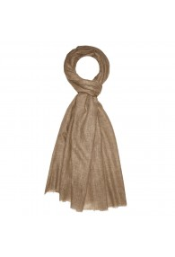 Shawl 100% Cashmere Unicolored Brown For Men LORENZO CANA