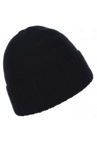 Cap 100% Cashmere Uni Black Anthracite LORENZO CANA