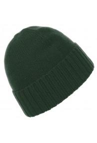 Cap 100% Cashmere Uni Dark Green Spinach LORENZO CANA