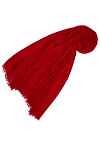 Cashmere scarf plain Chili red LORENZO CANA