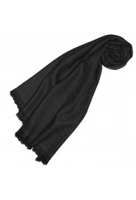 Cashmere Scarf plain Night Gray LORENZO CANA
