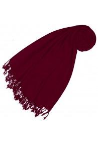 Cashmere + wool scarf wine red monochrome LORENZO CANA