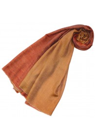 Cashmere scarf doubleface ocher and orange LORENZO CANA