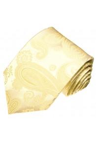 XL Neck Tie 100% Silk Paisley Beige LORENZO CANA