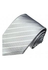 XL Necktie 100% Silk Paisley Black LORENZO CANA