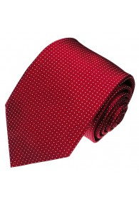 XL Necktie 100% Silk Polka Dot Red White LORENZO CANA