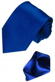Neck Tie Set 100% Silk Paisley Dark Blue LORENZO CANA
