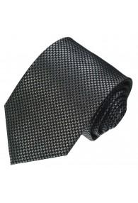 Neck Tie 100% Silk Houndstooth Silver Black LORENZO CANA