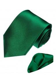 Necktie Set 100% Silk Uni Dark Green LORENZO CANA