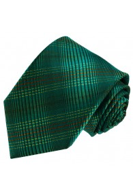 Neck Tie 100% Silk Checkered Green Orange LORENZO CANA