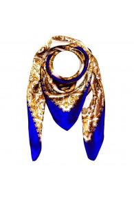 Tuch für Herren gold weiss blau Seide Floral LORENZO CANA