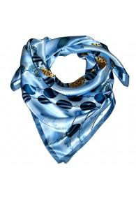 Tuch für Herren hellblau blau gold Seide Floral LORENZO CANA