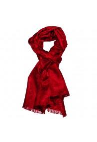 Men's Shawl Viscose Silk Paisley Red LORENZO CANA