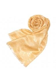 Women's Shawl Viscose Silk Paisley Beige LORENZO CANA