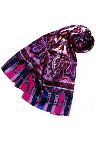 Seidenschal Damen rosa violett blau rot Paisley LORENZO CANA