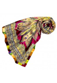 Scarf for Women multicoloured silk Floral LORENZO CANA