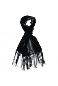 Men's Shawl Silk Velvet Damast Black LORENZO CANA