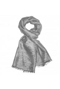 Shawl Viscose Silk Paisley Silver For Men LORENZO CANA