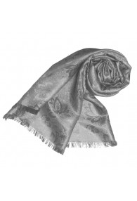 Shawl Viscose Silk Paisley Silver For Women LORENZO CANA