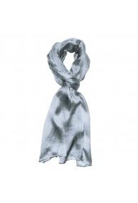 Luxury Men's Shawl 100% Silk Stripes Gray LORENZO CANA