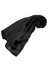 Men's scarf silk black stripes LORENZO CANA