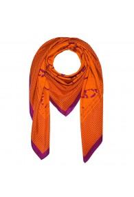Herrentuch Hahnentritt Paisley Orange Lavendel LORENZO CANA