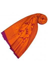 Tuch Damen Hahnentritt Paisley Orange Lavendel LORENZO CANA