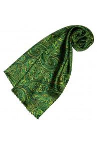 Seidenschal Damen grün türkis hellblau Paisley LORENZO CANA