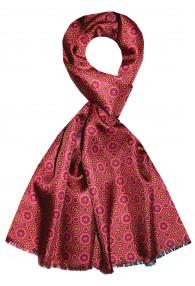 Men's Shawl Silk Wool Polka Dot Burgundy LORENZO CANA