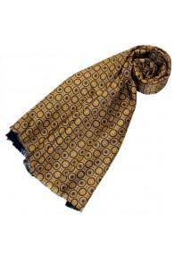 Reversible scarf silk + wool for women Gold LORENZO CANA