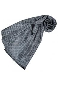 Reversible scarf silk + wool for women Gray LORENZO CANA