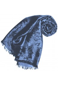 Blue scarf for women Paisley LORENZO CANA