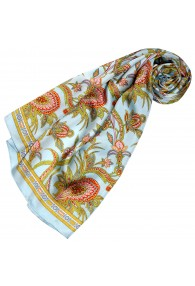 Silk scarf Blue Paisely LORENZO CANA