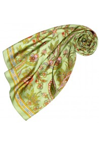 Silk cloth green paisely LORENZO CANA