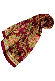 Silk scarf Red Paisely LORENZO CANA
