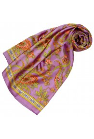 Silk scarf pink Paisely LORENZO CANA
