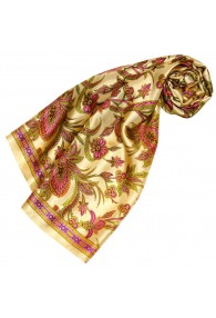 Silk scarf yellow Paisely LORENZO CANA
