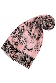 Silk scarf pink Floral LORENZO CANA