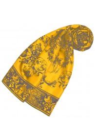 Silk Scarf Yellow Floral LORENZO CANA