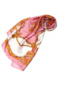 Luxury silk scarf Rose LORENZO CANA