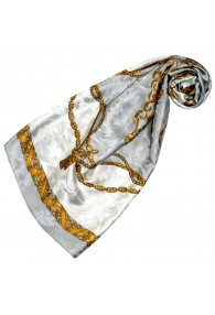 Luxury Silk Scarf Gray LORENZO CANA