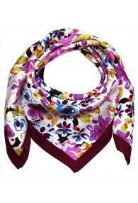 Silk scarf violet Floral LORENZO CANA