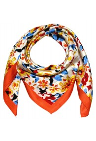 Silk scarf orange Floral LORENZO CANA